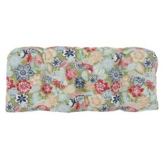 Hampton Bay Jean Floral Tufted Outdoor Bench Cushion 7426 01002000