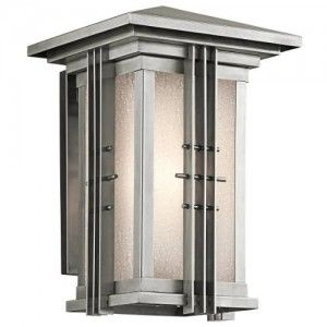 Kichler 49159SS Outdoor Light, Arts and Crafts/Mission Wall Lantern 1 Light Fixture   Stainless Steel