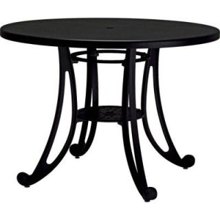 Tradewinds Terrace Textured Black 42 in. Round Commercial Patio Table HD C73H2AM TB