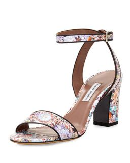 Tabitha Simmons Leticia Floral Print Leather Sandal