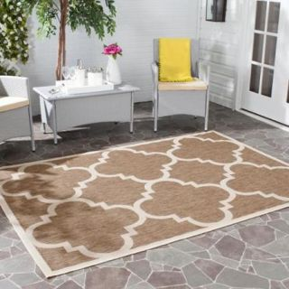 Safavieh Indoor/ Outdoor Courtyard Brown Rug (5'3 Square)