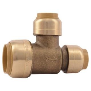 3/4 in. x 1/2 in. x 1/2 in. Brass Push to Connect Reducer Tee U454LFA   Mobile