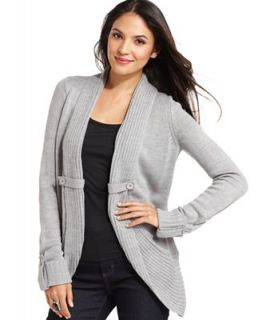 AGB Sweater, Long Sleeve Ribbed Shawl Collar Cardigan
