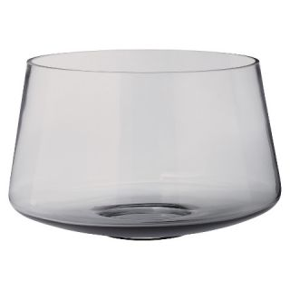 Lazy Susan Oversized Smoky Glass Vase   Gray (8)