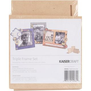 "Beyond The Page MDF Triple Frame Set (1) 5""X5"", (2) 4.5""X6.5"""