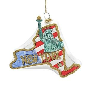 Kurt Adler Glass NY Statue of Liberty Ornament, 4.25""