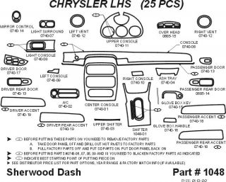 2001, 2002 Chrysler LHS Wood Dash Kits   Sherwood Innovations 1048 N50   Sherwood Innovations Dash Kits