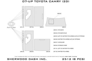 2007 2011 Toyota Camry Wood Dash Kits   Sherwood Innovations 2512 N50   Sherwood Innovations Dash Kits