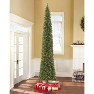 Holiday Time Pre Lit 12' Brinkley Pine Artificial Christmas Tree, Clear Lights