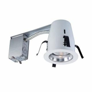 Commercial Electric 4 in. Chrome Non IC Remodel Recessed Lighting Kit HBR2000R/202CLR