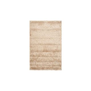 Safavieh Florida Shag Beige and Cream Rectangular Indoor Machine Made Area Rug (Common 8 x 10; Actual 96 in W x 120 in L x 1 ft Dia)