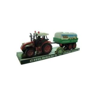 Friction Farm Tractor Truck and Trailer   Set of 3