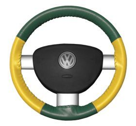 1999 2013 Chevy Silverado Leather Steering Wheel Covers   Wheelskins Green/Yellow AXX   Wheelskins EuroTone Leather Steering Wheel Covers