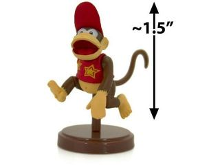 "Diddy Kong ~1.5"" Mini Figure [Super Mario Choco Egg Mini Figure Selection Series"