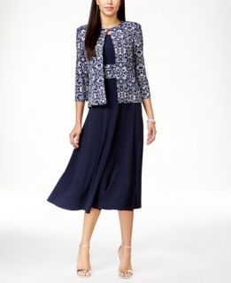Jessica Howard Petite Empire Waist Dress & Printed Jacket   Dresses
