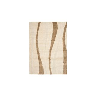 Safavieh Shag Cream and Dark Brown Rectangular Indoor Machine Made Area Rug (Common 4 x 6; Actual 48 in W x 72 in L x 0.5 ft Dia)