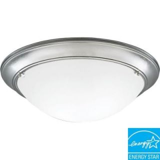 Progress Lighting Eclipse Collection Brushed Steel 3 light Flushmount DISCONTINUED P7325 13EBWB