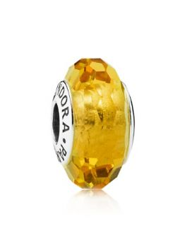 PANDORA Charm   Murano Glass & Sterling Silver Fascinating Ochre, Moments Collection