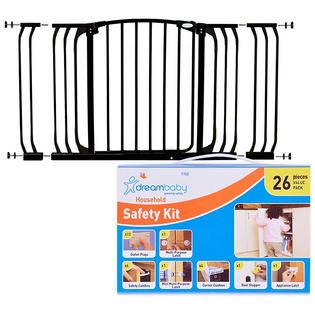 Dream Baby Hallway Security Gate with Extension & Childproofing Safety