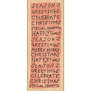 Penny Black Mounted Rubber Stamp 2.25X6 Merry Moments   15019810