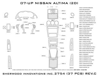2007 2012 Nissan Altima Wood Dash Kits   Sherwood Innovations 2754 N50   Sherwood Innovations Dash Kits