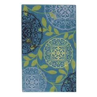 Essential Home Meadallion Vine Aqua Accent Rug   Home   Home Decor