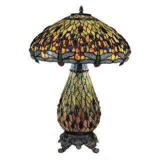 Radionic Hi Tech Tentelle 26.50 in. Brass Hand Rolled Art Glass Table Lamp DT_TL_TT100273_RHT