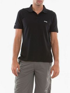 Jeep Mens Authentic Premium Polo Shirt Black