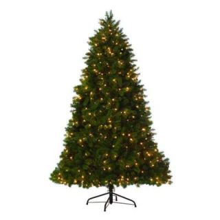Martha Stewart Living 9 ft. Indoor Pre Lit LED Downswept Douglas Fir Artificial Christmas Tree 9315310610