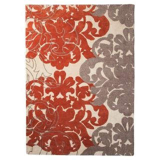 Threshold™ Exploded Damask Area Rug   Coral/Gray