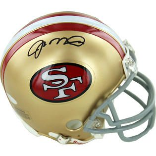 Joe Montana Signed San Francisco 49ers Replica Mini Helmet   Fitness