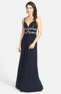 Betsy & Adam Cutout Jersey Gown