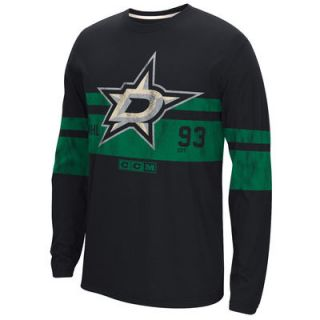 Dallas Stars CCM Long Sleeve Crew T Shirt   Black