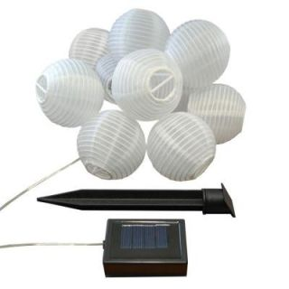 Lumabase 3 in. Solar White Nylon String Lights (10 Light) 73001