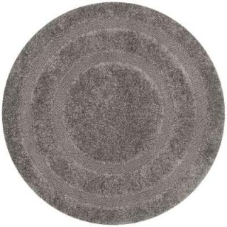 Safavieh Shadow Box Shag Grey 6 ft. 7 in. x 6 ft. 7 in. Round Area Rug SG454 8080 7R