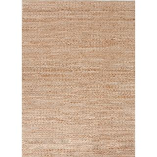 Handmade Naturals Solid Pattern Brown Rug (36 x 56)   15520236