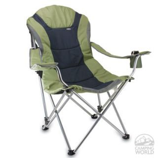 Reclining Camp Chair  Sage Green   Picnic Time 803 00 130   Folding Chairs