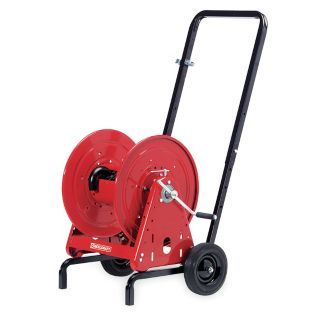 REELCRAFT 100 ft. Heavy Duty Hose Reel with Cart, Red   Motor Driven and Hand Crank Hose Reels   3MJK2|600967 1