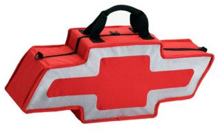 Go Boxes BT2000RS   Red With Silver Border Go Boxes Canvas Chevy Bag   Tote Bags