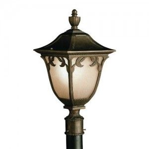 Kichler 9514LZ Outdoor Light, Transitional Post Mount 1 Light Fixture   Legacy Bronze