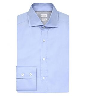 BRUNELLO CUCINELLI   Slim fit cotton twill shirt