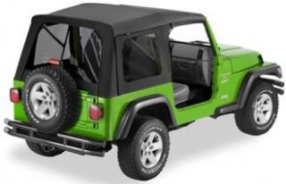 Bestop   Bestop Supertop Soft Top (Black Diamond) Classic Style, 54709 35   Fits 2003 to 2006 TJ Wrangler and Rubicon