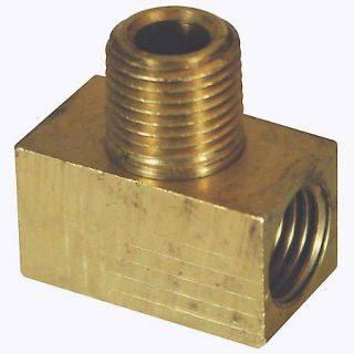 American Grease Stick Co. Brass male branch tee   1 per card   3/8 24 Inverted to 1/8 in. NPT BLF 58C