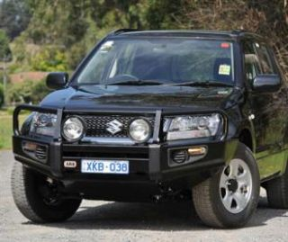 ARB 4x4 Accessories   ARB 4x4 Accessories Front Winch Mount Deluxe Bull Bar Bumper (Black) 3426050   Fits 2008 to 2012 Suzuki Grand Vitara