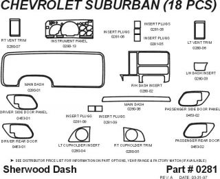 1995, 1996 Chevy Suburban Wood Dash Kits   Sherwood Innovations 0281 N50   Sherwood Innovations Dash Kits