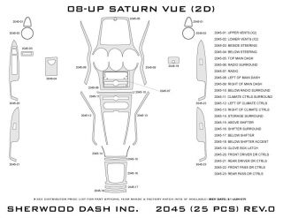 2008 Saturn Vue Wood Dash Kits   Sherwood Innovations 2045 N50   Sherwood Innovations Dash Kits