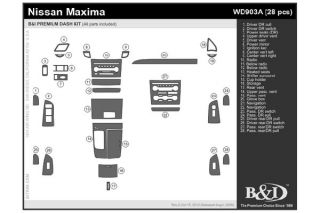 2009 Nissan Maxima Wood Dash Kits   B&I WD903A DCF   B&I Dash Kits