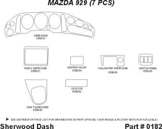 1992 1995 Mazda 929 Wood Dash Kits   Sherwood Innovations 0182 N50   Sherwood Innovations Dash Kits