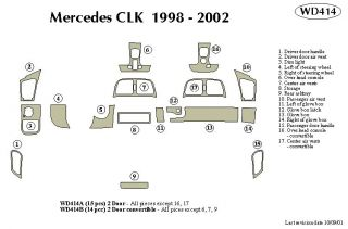 1998 2002 Mercedes Benz CLK Class Wood Dash Kits   B&I WD414A DCF   B&I Dash Kits