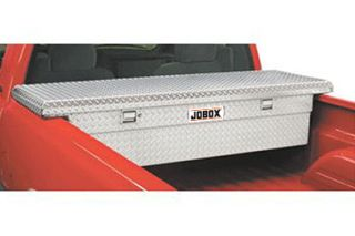 JOBOX Aluminum Low Profile Single Lid Crossover Truck Tool Box
